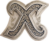 Manuscript Letter X - Illuminated Ancient Ornate Irish Manuscripts - Museum Store Company Photo