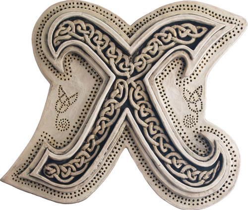 Manuscript Letter X - Illuminated Ancient Ornate Irish Manuscripts - Museum Store Company Photo