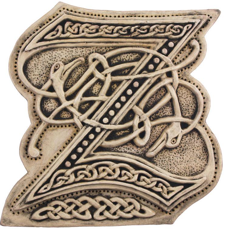 Mcript Letter Z - Illuminated Ancient Ornate Irish Mcripts on