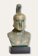 Greek Warrior Bust - Hoplite Leonidas - Bronze Finish  - Museum Store Company Photo