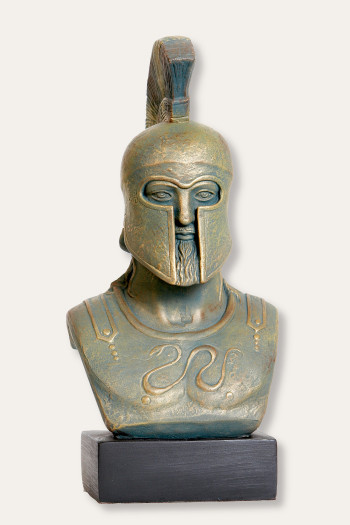 Greek Warrior Bust - Hoplite Leonidas - Bronze Finish   - Museum Store Company Photo