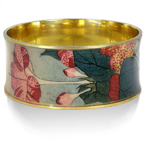 Hokusai Red Floral Bangle - Museum Shop Collection - Museum Company Photo
