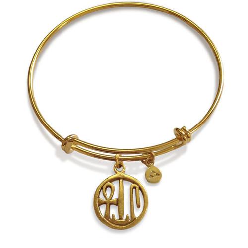 Cartouche Charm Flexible Bracelet - Museum Shop Collection - Museum Company Photo