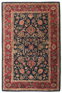 Mashad - Navy / Red Rug : Persian Tufted Collection - Photo Museum Store Company