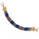 Egyptian Lapis & Turquoise Bracelet - Museum Shop Collection - Museum Company Photo