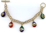 Imperial Jeweled Egg Charm Bracelet - Museum Shop Collection - Museum Company Photo