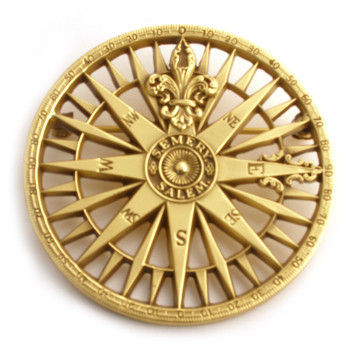 Compass Rose Brooch Pendant Museum Shop Collection