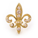 Tudor Place Fleur De Lys Pin Pendant, Vermeil - Museum Shop Collection - Museum Company Photo