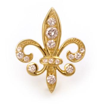 Tudor Place Fleur De Lys Pin Pendant, Vermeil - Museum Shop Collection - Museum Company Photo