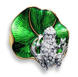 Frog on a Lily Pad Brooch - Museum Shop Collection - Museum Company Photo