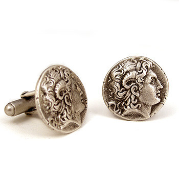 Alexander the Great cufflinks - Museum Shop Collection - Museum Company Photo