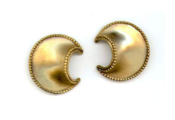 African Crescent Earrings - Museum Shop Collection - Museum Company Photo