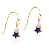 Star and Pearl Earrings, single drop - Museum Shop Collection - Museum Company Photo