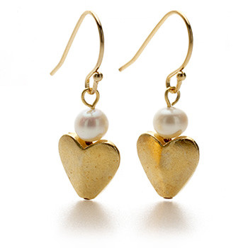 Bactrian Heart Earring - Museum Shop Collection - Museum Company Photo
