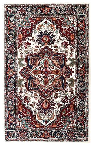 Tabriz - Ivory / Navy Rug : Persian Tufted Collection - Photo Museum Store Company