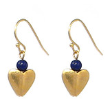 Bactrian Heart Earrings with Lapis - Museum Shop Collection - Museum Company Photo
