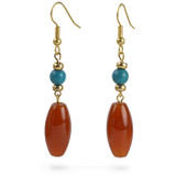 Carnelian & Turquoise Earring - Museum Shop Collection - Museum Company Photo