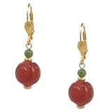 Jade and Carnelian Longevity Earrings - Museum Shop Collection - Museum Company Photo