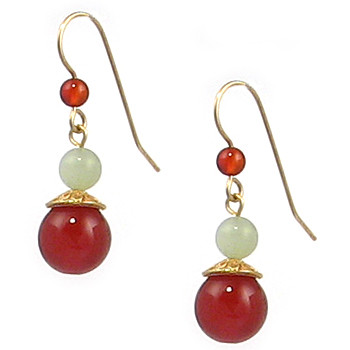 Jade and Carnelian Drop Earrings - Museum Shop Collection - Museum Company Photo