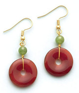 Carnelian and Jade Earrings - Museum Shop Collection - Museum Company Photo