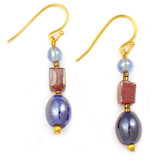 Roman Ancient Glass Drop Earrings - Museum Shop Collection - Museum Company Photo