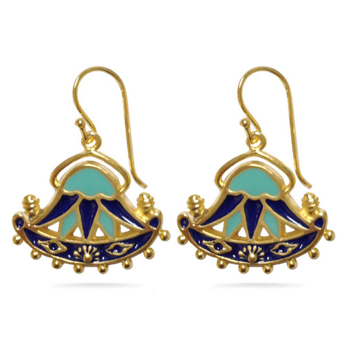 Egyptian Lotus Earrings - Museum Shop Collection - Museum Company Photo