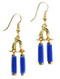 Egyptian Lapis Tube Double Drop Earrings - Museum Shop Collection - Museum Company Photo