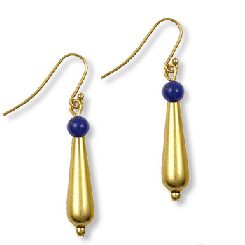 Petal Drop Earrings w/ Lapis - Museum Shop Collection - Museum Company Photo