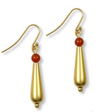 Petal Drop Earrings w/ Carnelian - Museum Shop Collection - Museum Company Photo