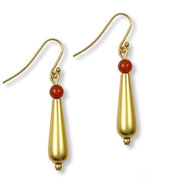 Petal Drop Earrings w/ Carnelian - Museum Shop Collection - Museum Company Photo