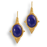 Egyptian Revival Earrings w/Lapis - Museum Shop Collection - Museum Company Photo