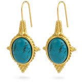 Egyptian Revival Earrings with Turquoise - Museum Shop Collection - Museum Company Photo