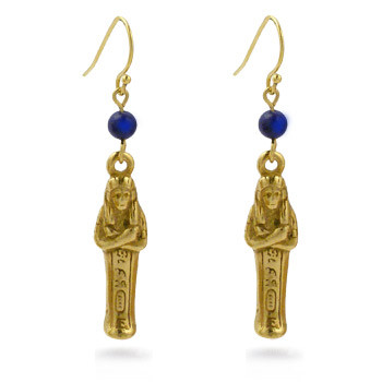 Mummy Earrings with Lapis - Museum Shop Collection - Museum Company Photo