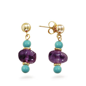 New Kingdom Amethyst Earrings - Museum Shop Collection - Museum Company Photo