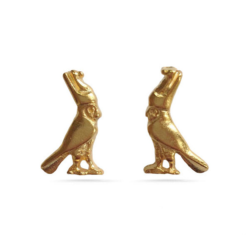 Egyptian Falcon Post Earrings - Museum Shop Collection - Museum Company Photo