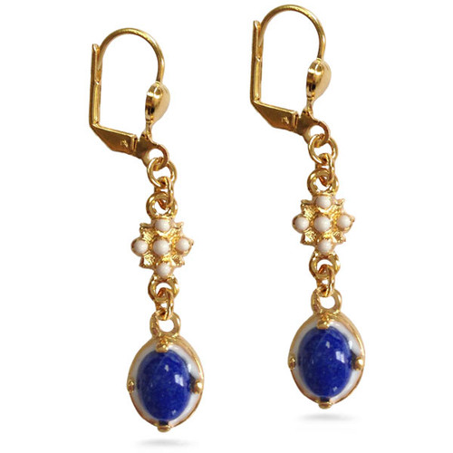 Elizabethan Lapis Lazuli Earring - Museum Shop Collection - Museum Company Photo