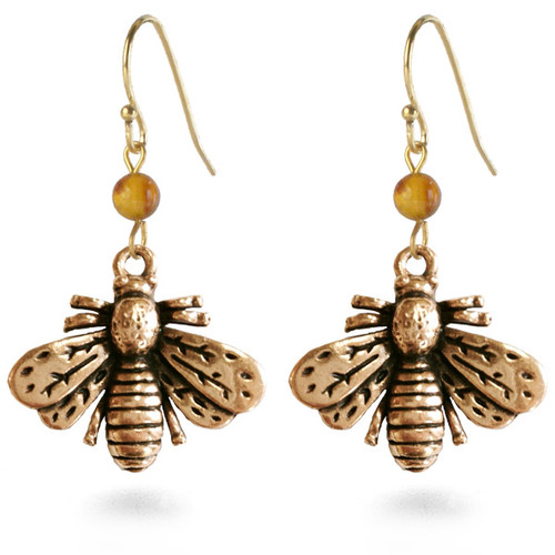 Napoleonic Bee Drop Earrings - Museum Shop Collection - Museum Company Photo