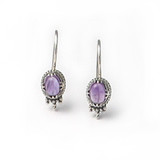 Carolingian Amethyst Earrings, silver finish - Museum Shop Collection - Museum Company Photo