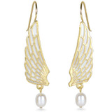 Swan Wing Earrings - Museum Shop Collection - Museum Company Photo