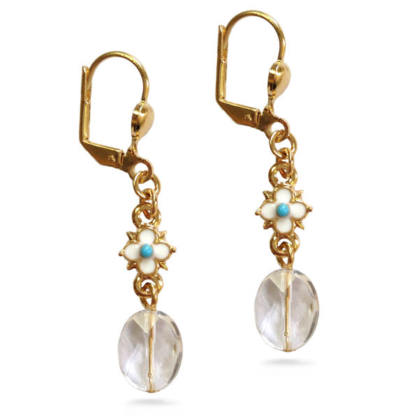 Elizabethan Crystal Drop Earrings - Museum Shop Collection