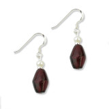Garnet Drop Earrings, s/s - Museum Shop Collection - Museum Company Photo