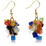 Mosaic Glass Chip Earrings, small - Museum Shop Collection - Museum Company Photo