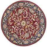 Kashan - Red / Navy Rug : Persian Tufted Collection - Photo Museum Store Company