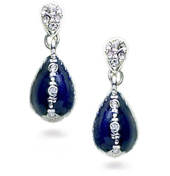 Jeweled Blue Egg Earrings - Museum Shop Collection - Museum Company Photo