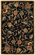 Paradise - Black / Multi Rug : Persian Tufted Collection - Photo Museum Store Company