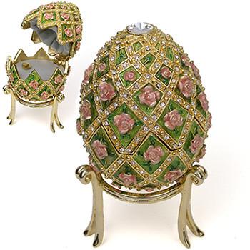 Rose Trellis Musical Egg Box - Museum Shop Collection - Museum Company Photo