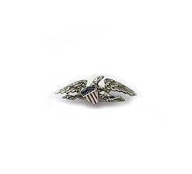 McIntire Lapel Pin, silver finish - Museum Shop Collection - Museum Company Photo