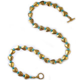 Bactrian Heart Necklace with Turquoise - Museum Shop Collection - Museum Company Photo