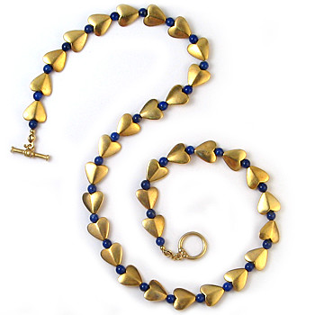 Bactrian Heart Necklace with Lapis - Museum Shop Collection - Museum Company Photo