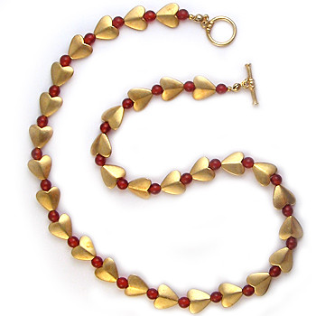 Bactrian Heart Necklace with Carnelian - Museum Shop Collection - Museum Company Photo